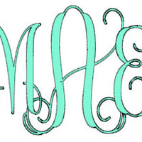 Interlocking Vine Monogram Decal for Car, Notebook, Laptop, Water Bottle, Anything!