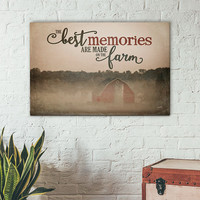 Best Memories Are Made On The Farm-  Gallery Wrapped Canvas | Barn Photo | Farmhouse Decor | Canvas Sign | Farming Sign | Print Canvas