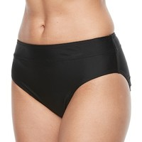 Women's Croft & Barrow® Midrise Scoop Bikini Bottoms | null