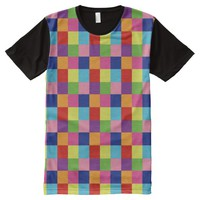 Colorful Checker ! All-Over Print T-shirt