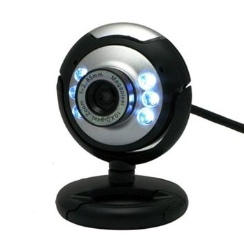 HD 12.0 MP 6 LED USB Webcam Computer Camera with Mic for Desktop PC Computer Peripherals New Promotion