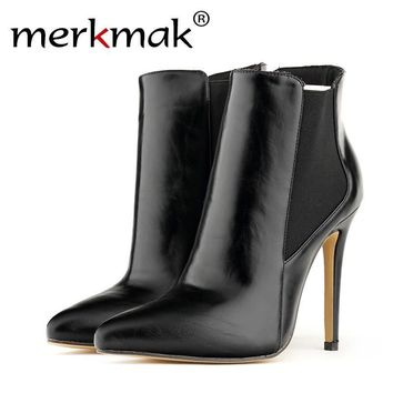 Merkmak Women High Heels Shoes 11 cm Wedge Flatform Punk Creeper Thick Cute Cat Shoes