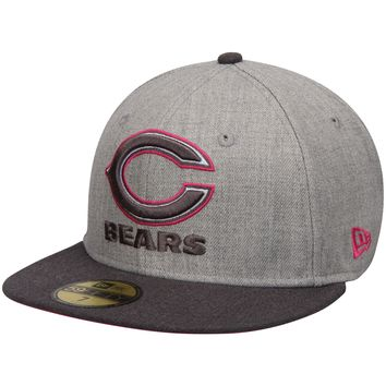 Chicago Bears New Era Gray/Graphite Breast Cancer Awareness On-Field 59FIFTY Fitted Hat