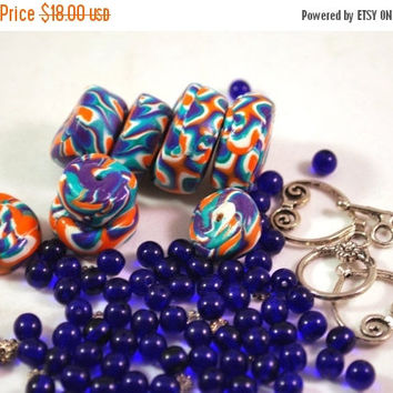 On Sale Polymer Clay Beads, Polymer Beads, Beads for Sale, Loose Beads, Clay Beads, Handmade Beads, Fimo Beads, Beading Supply, Bead Kit