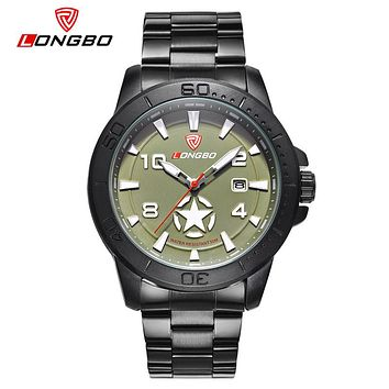 Men Army Star Sports Canvas Leather Quartz Watches For Men Leisure Clock Simple Watch
