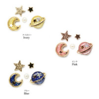 Free Shipping Fashion Planet Moon Stars Set Earrings from becomfortable