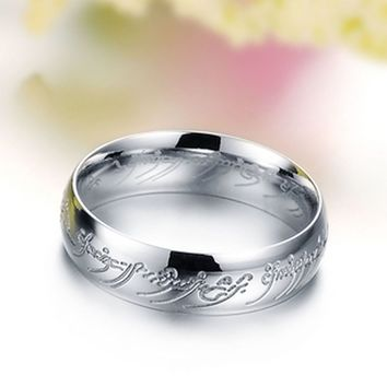 4mm Stainless Steel Lord of the Rings One Ring