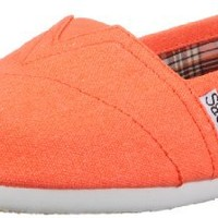 BOBS from Skechers Women's Zing Flat,Orange,6 M US