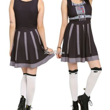 Licensed cool NEW Star Wars Her Universe Darth Vader Cosplay Skater Fit & Flare Dress JRS S-XL