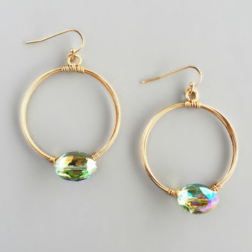 Dazzling Peridot Hoop Earrings