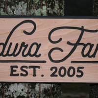 Family Name Sign Hand Carved On Woo.. on Luulla