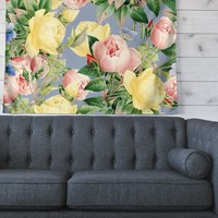 """83 Oranges """"Island Dreams"""" Blue Pink Illustration Wall Tapestry"""