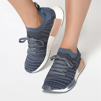 adidas Women's Blue NMD_R1 STLT Primeknit Sneakers at PacSun.com