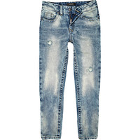 River Island Boys light bleach wash dean straight jeans