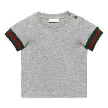 Gucci Knit Cuff T-Shirt (Baby Boys) | Nordstrom