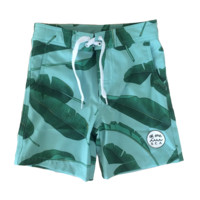 Walk-Surf-Swim Shorts in Banana Leaves Print- Kid's