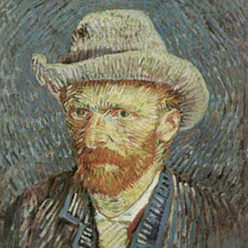 Self Portrait 1887 by Vincent Van Gogh Fine Art Print