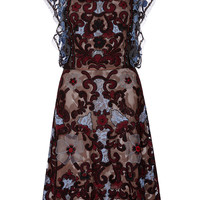 Beaded Lace And Appliqué Cocktail Dress | Moda Operandi
