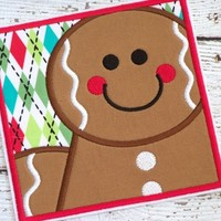 Gingerbread Man Iron On Applique Patch Christmas