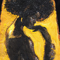 "Afro T-shirt Afrocentric t shirt ""BLACK IS GOLD"" Painted 3d African shirt"