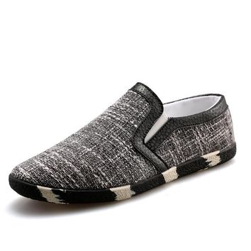 Men's Slip On Summer Canvas Shoe