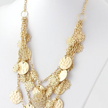 Magic Coins Layered Gold Necklace