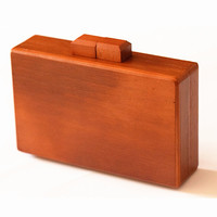 Women messenger bags retro casual evening bag luxury Solid box wood bag
