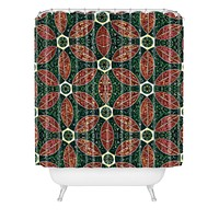 Raven Jumpo Jade Mosaic Shower Curtain