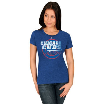 Majestic Chicago Cubs Women's Take That T-Shirt - Royal Blue