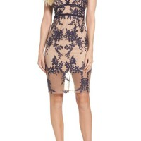 Bardot Flora Embroidered Sheath Dress | Nordstrom