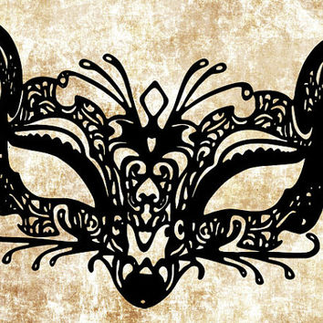 fox filigree mardi gras mask png file clip art Digital Image Download venetian masquerade ball