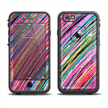 The Abstract Color Strokes Skin Set for the Apple iPhone 6 LifeProof Fre Case