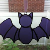 Purple Bat Halloween Sun catcher