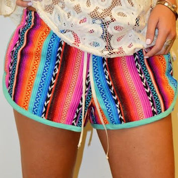 MEXICAN STRIPE JACQUARD SHORTS