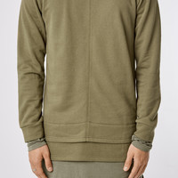 SW050 Layered Sweater - Olive Green