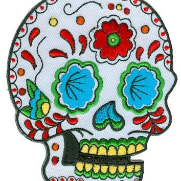 "SUNNY BUICK - Great Candy Sugar Skull Patch, Officially Licensed Originals, Premium Quality Iron-On / Sew-On, Embroidered Patch - 3.5""h x 2.75"" w"