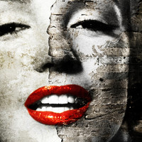 Marilyn Monroe - Wall painting Stretched Canvas by Tobia Crivellari