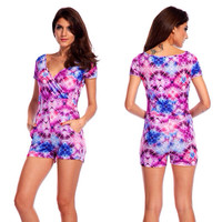 Pink,Purple,Blue, White  Cosmic Romper