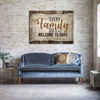 Every Family Has A Story To Tell Welcome To Ours Canvas Wall Art Family Decor