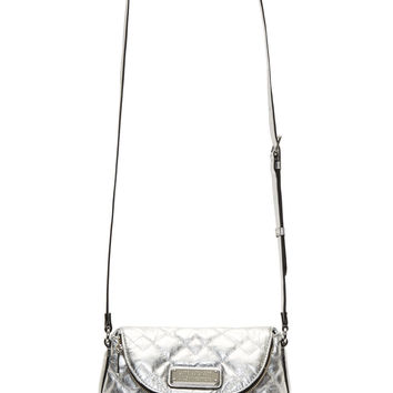 Marc By Marc Jacobs Silver Quilted Natasha Mini Shoulder Bag