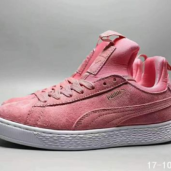 PUMA Winterized Pink Pomo Leisure Running Sports Shoes I-CSXY
