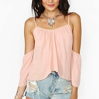 Love Story Crop Top - Peach