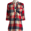 ModCloth Rustic Long 3 Bonfire Stories Tunic in Red Plaid
