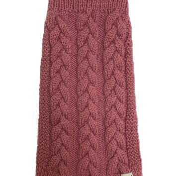 Dusty-Rose Hand-knitted Jumper