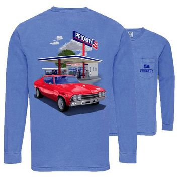 Southern Couture Priority Classic Car Pocket Unisex Long Sleeve T-Shirt