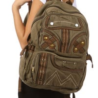 Canvas Large School Backpack