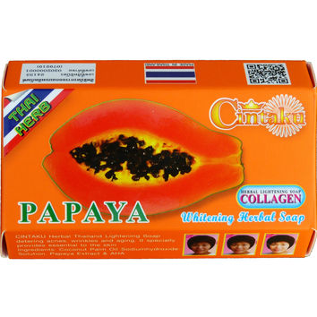 Thai Herb Papaya and Collagen Skin Whitening Facial Soap