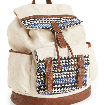 Triangle Embroidery Backpack