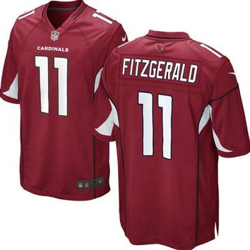 Mens Arizona Cardinals Larry Fitzgerald Nike Cardinal Game Jersey
