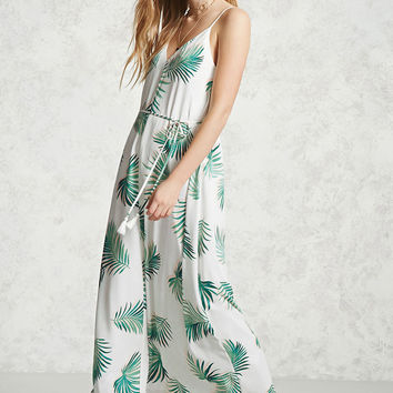 Contemporary Palm Leaf Dress